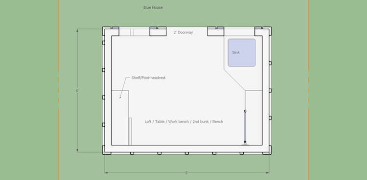 Blue Floor Plan