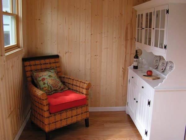 shepherd hut living room
