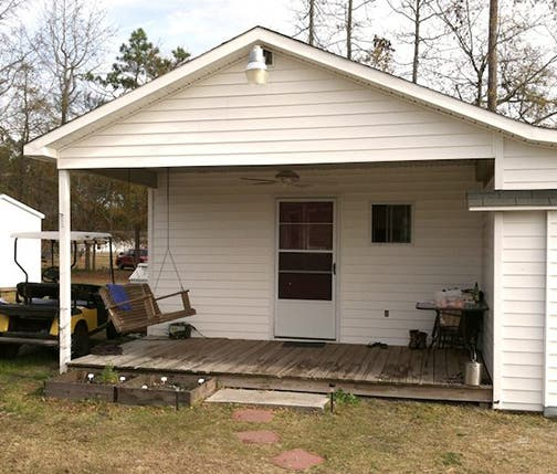 """The Bungalow"" - just 176 sq.ft. - is the home the Odom's lived in while planning their tiny house."