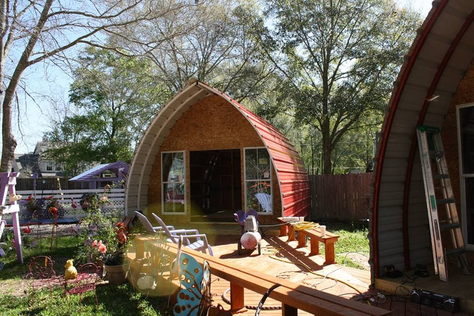 Arched cabins tiny house blog for Steel frame cabin