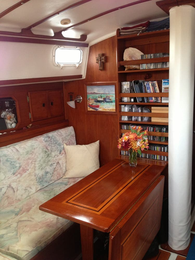 Inside the stateroom of S/V Mary Christine.