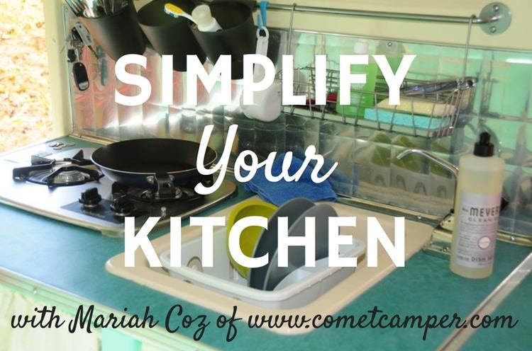 simplify your kitchen
