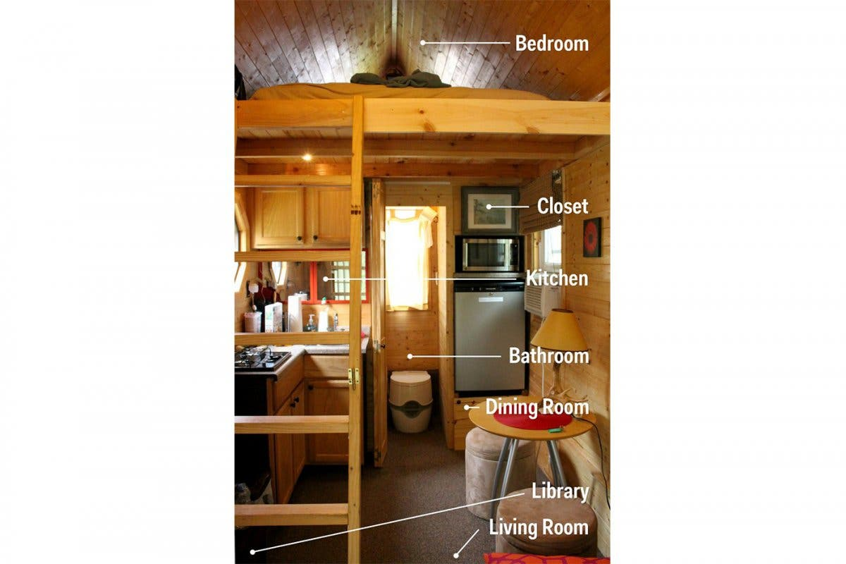 quotSurvivingquot with Mom in a Tiny House Tiny House Blog : heres a look inside the tiny house from top to bottom the combination of wood paneling and target furniture give it a modern rustic feel from tinyhouseblog.com size 1200 x 800 jpeg 94kB