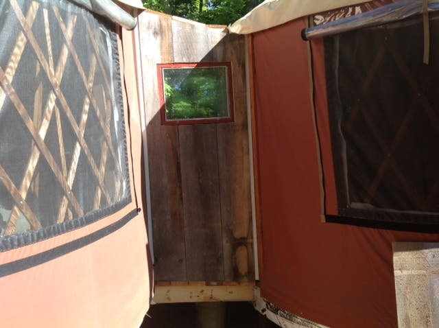 the catwalk between yurts