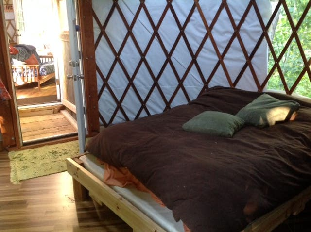 the baby yurt bedroom