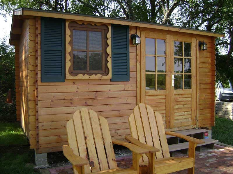 Solid build small cabin kits Small cottages to build