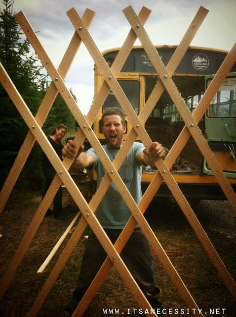 9 yurt build wall 3 copy