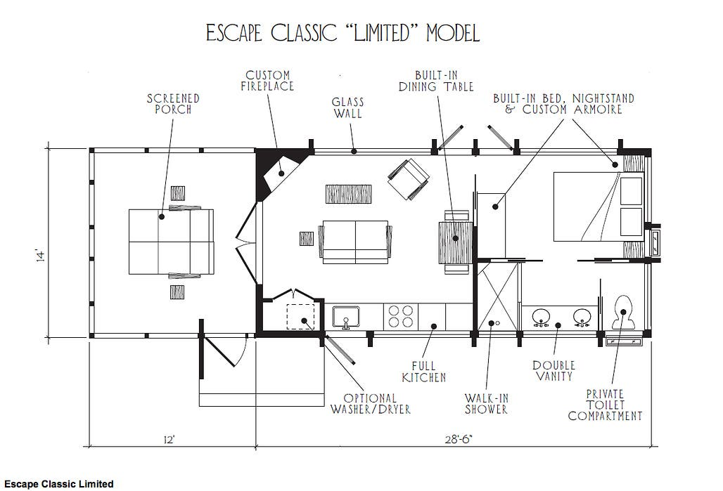 2 bedroom park model homes floor plans for Two floor bedroom