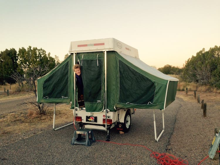 tiny camper up