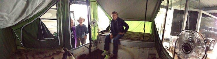 inside tiny camper