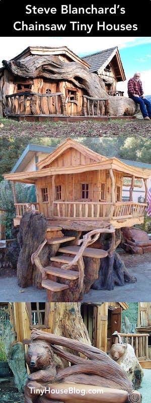 Chainsaw tiny houses