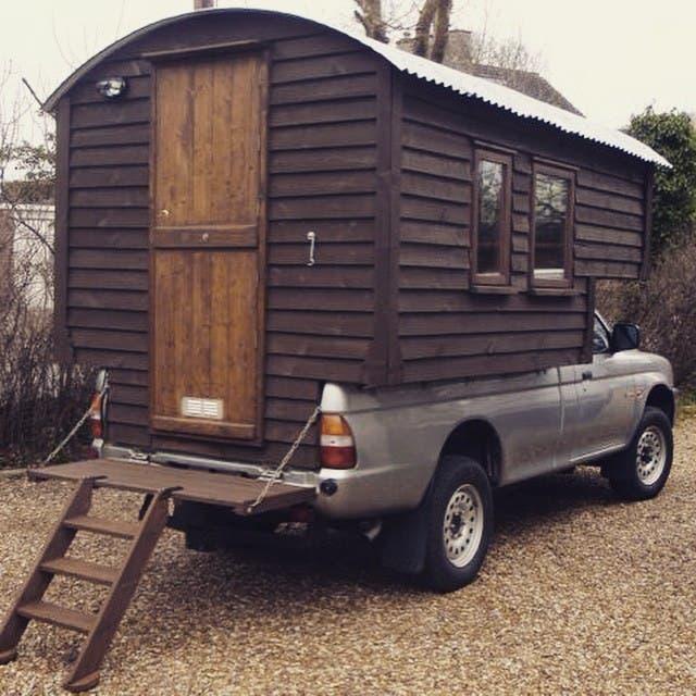 Matt's Handmade Truck Camper #tinyhouse #tinyhome #tinyhouseliving #tinyhouseblog #tinyhousemovement #tinyhome #camper #truckcamper