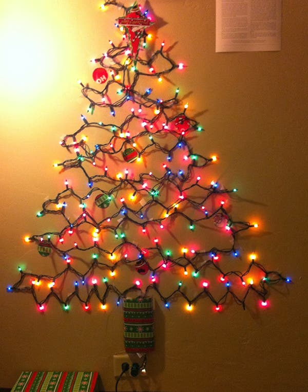 The Perfect Alternative Christmas Tree - Christmas Lights Christmas Tree