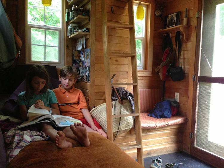kids in tiny house