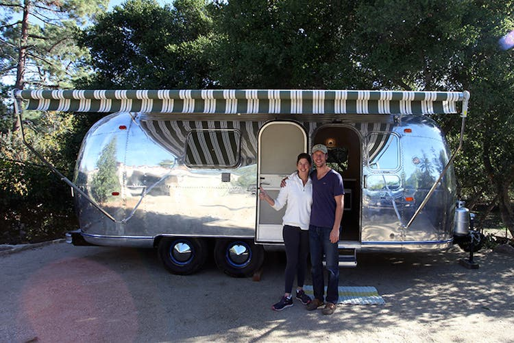 Sharon and Sam and the airstream