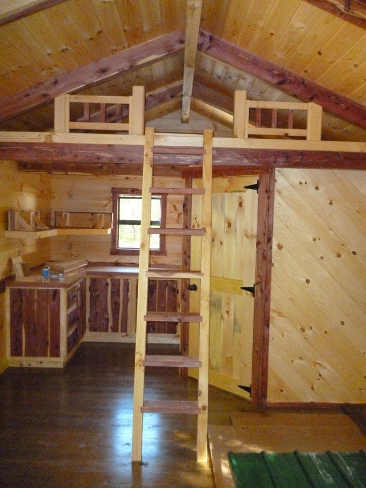 Tiny House Floor Plans Small Cabins Tiny Houses Small: Trophy Amish Log Cabins