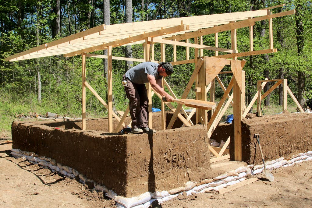 Plans available for a 4 500 cob house tiny house blog for How to build a floor for a house