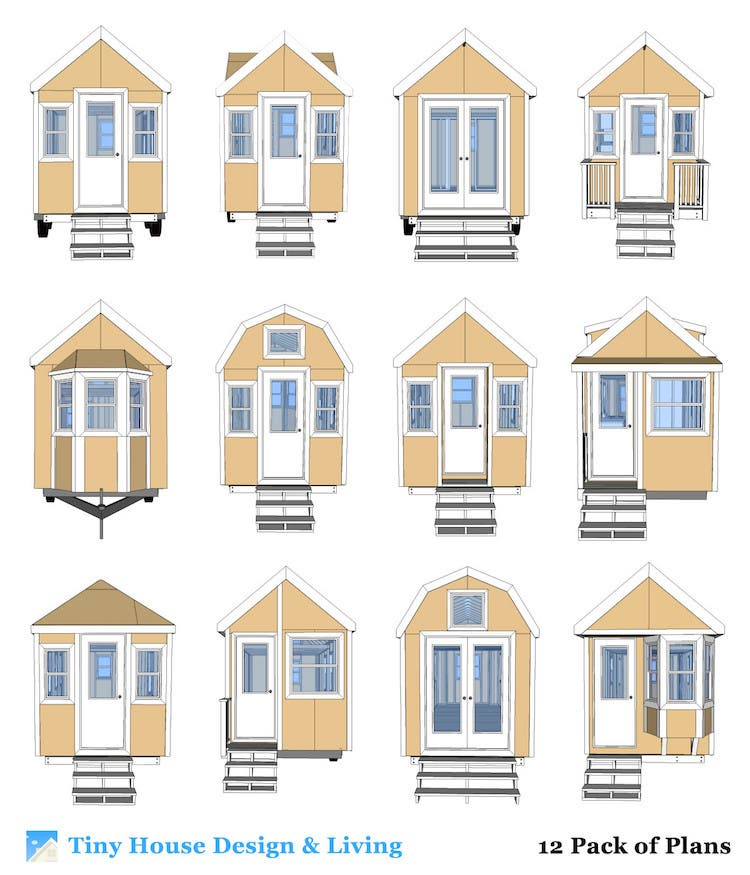 Tiny House Designs 12 Pack of Plans Giveaway