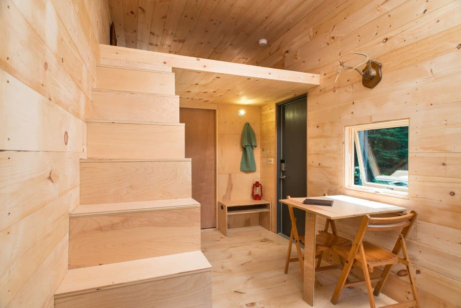 Try out a tiny cabin with getaway tiny house blog - Stairs in small house ideas ...