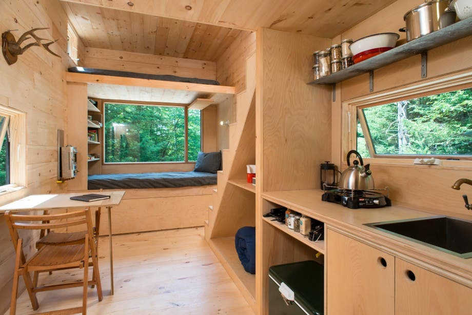 Try out a tiny cabin with getaway tiny house blog for Minimalist house escape 2