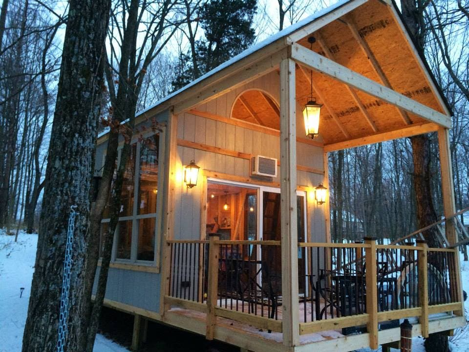 Cabin Chick Single Mom Builds Tiny Lake Getaway