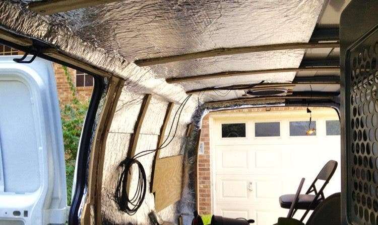 Cargo Van Conversion Insulation 2