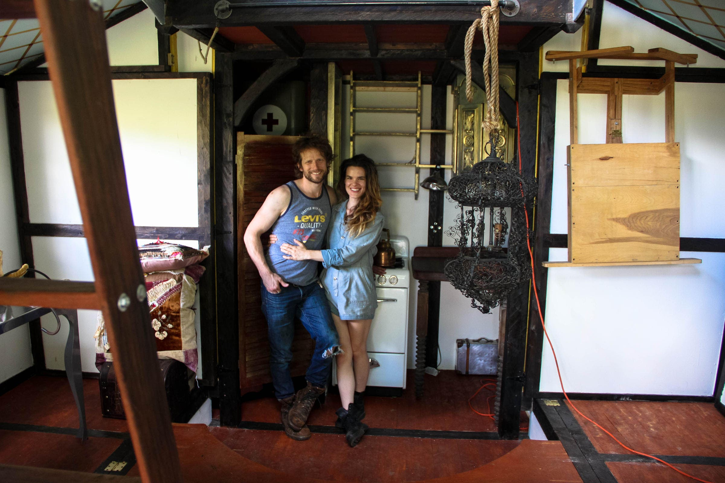 Tiny Steampunk House Built by Film Set Designer and Movie