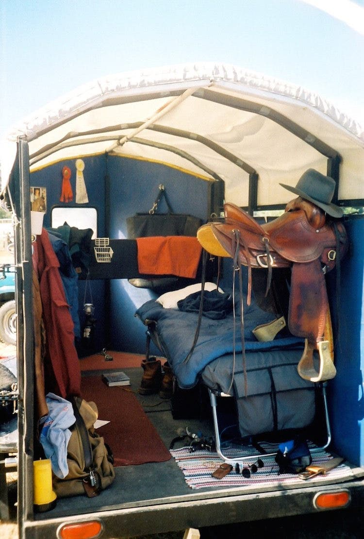 My typical camp set-up. We have traveled thousands of miles and I've slept in this rig probably fifty to a hundred nights since 2002.