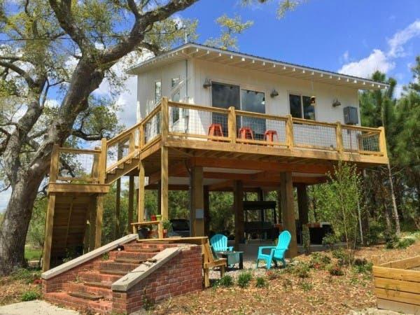 Small Stilt Seashore Home Tiny House Blog