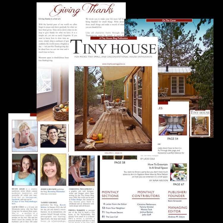 Tiny House Magazine Collage