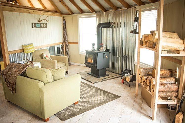Busby Yurt interior