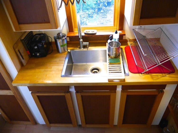 tiny house portland modern sink