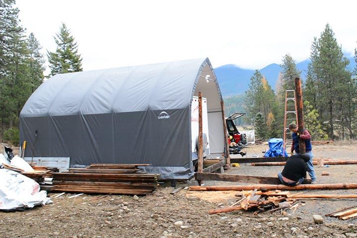 building cabin addition to rv garage