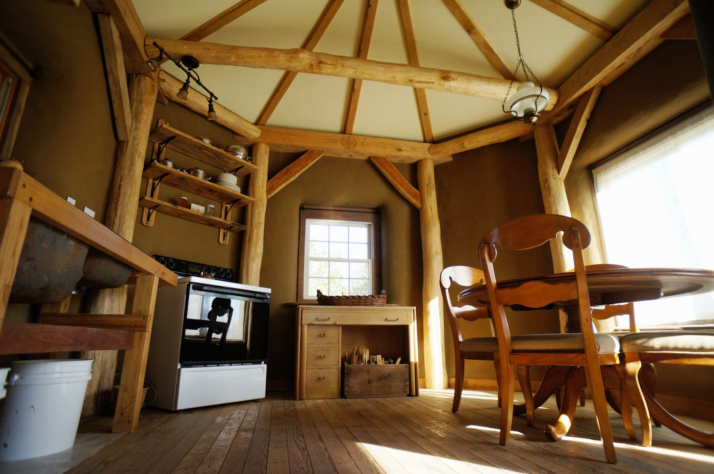 16 strawtron interior east tiny house blog for Small timber frame cottage