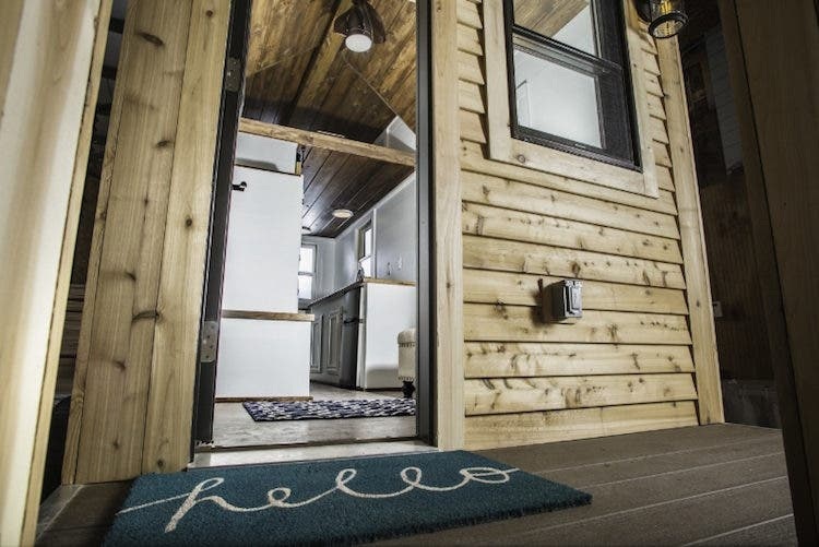 The Roving move-in ready model is 154 square feet and DIY packages start at $6,884. For more information on how to customize a tiny home to your lifestyle visit 84tinyliving.com. (PRNewsFoto/84 Lumber Company)