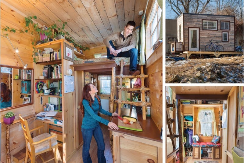 New book tiny houses built with recycled materials tiny for Small new build homes
