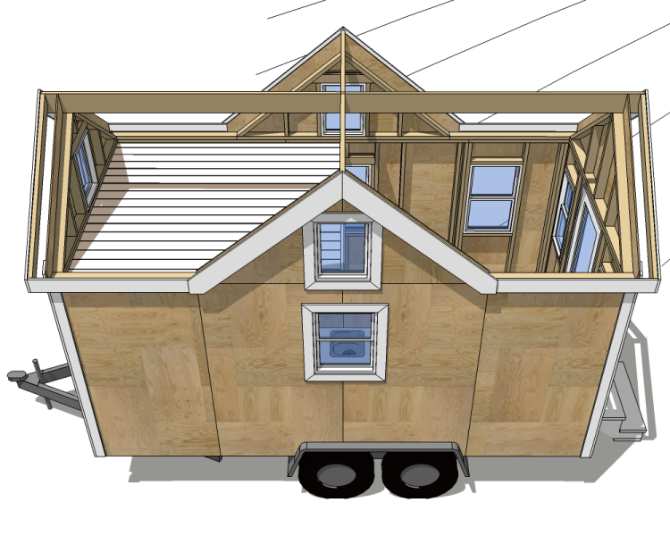 Floor plans for tiny houses on wheels top 5 design for Tiny home blueprints free