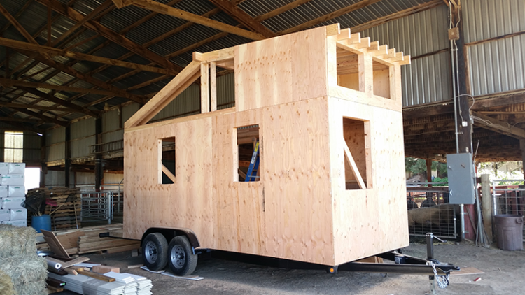 Angels in Toolbelts Gather to Build Tiny House for Nonprofit