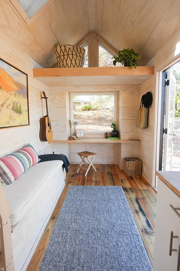 Tongue groove tiny home and tavern tiny house blog - Tiny contemporary house interior ...
