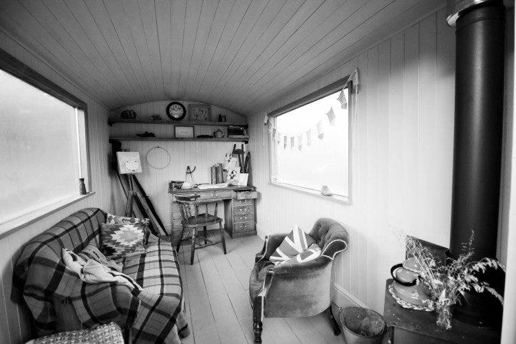 spaciouse shpherds hut interior