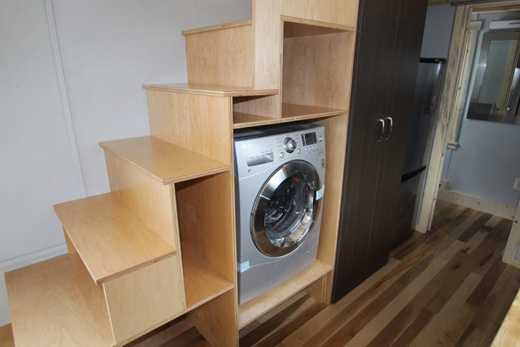 simblissity tinyhouse stair - Tiny House Washer Dryer