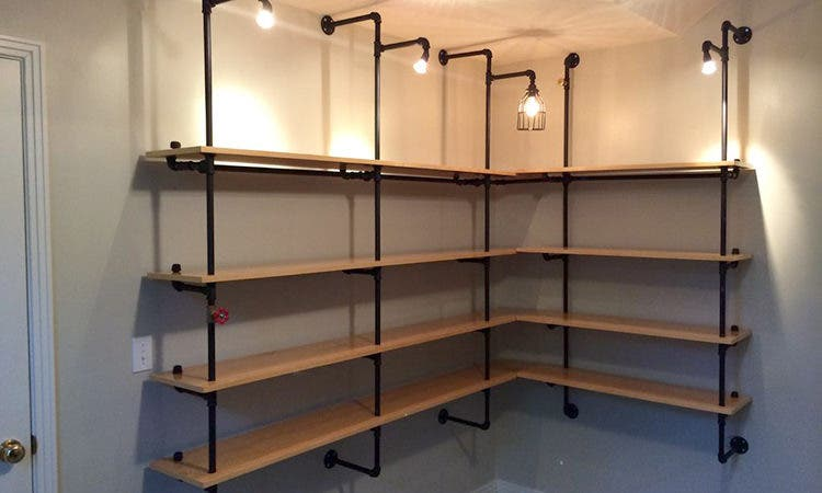 Ordinaire Pipe Shelves. HOME RESERVE