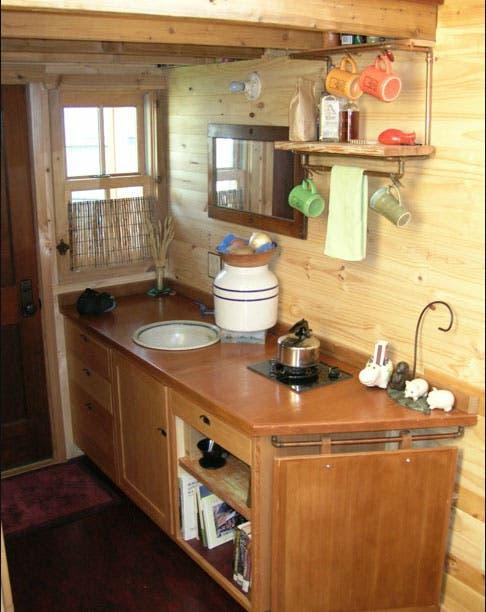Dee Williams Curret Kozy Kabin house kitchen