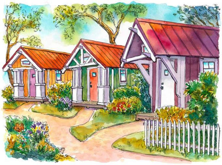 Building a tiny house community ana d productions wants for Four lights tiny house plans