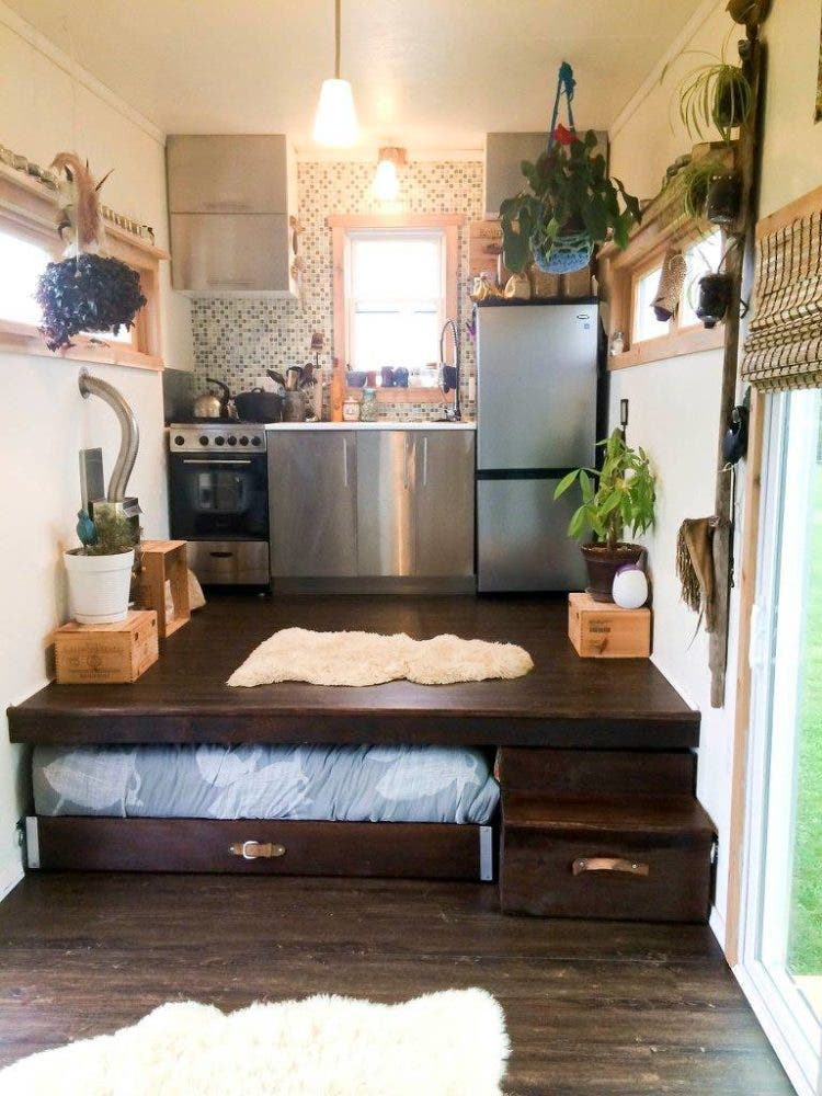 Nothing Says Freedom Quite Like A Tiny House On Wheels Thats Also Equipped To Meet All Of Your Needs Off Grid This One Is Built 20 Trailer