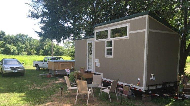 Tiny House Expedition Radio producer, Mark David Smith's tiny home