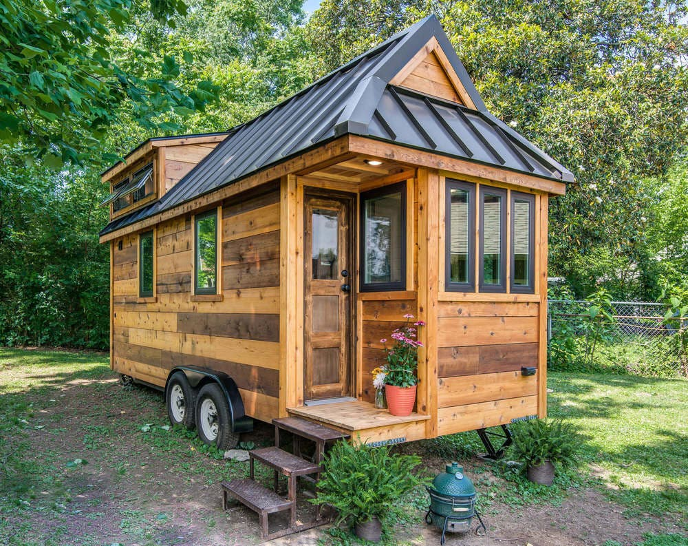 Cedar mountain tiny house affordable option from new for Cheap built homes