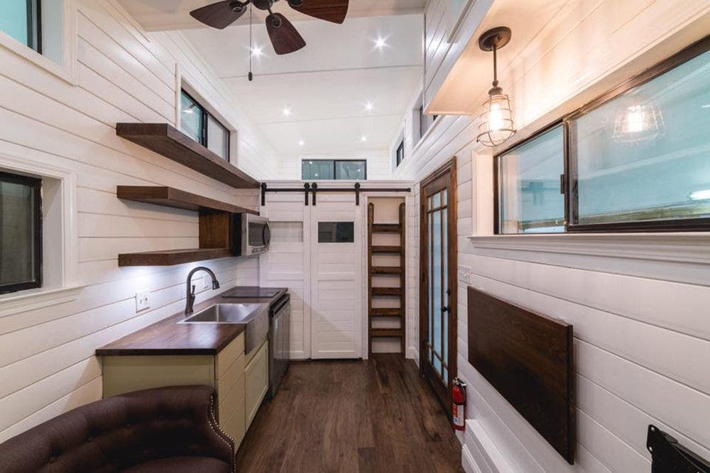 Each home can include custom living and sleeping spaces the california tiny house company