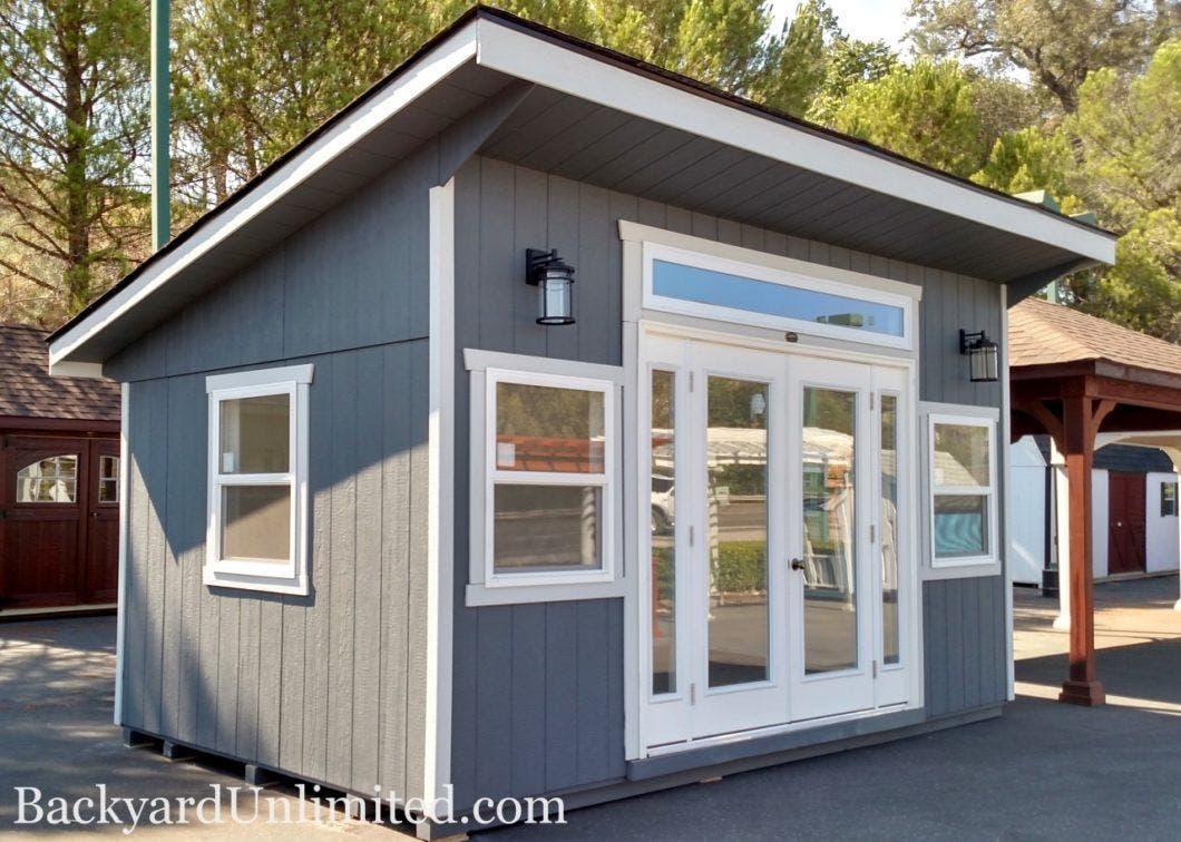 backyard unlimited offers tiny adaptable amish built structures rh tinyhouseblog com tiny house in backyard california iowa boy builds tiny house in his backyard