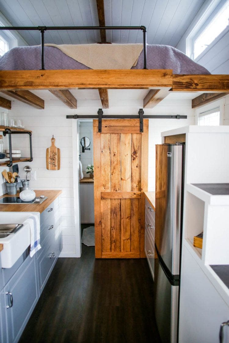 Liberation modern farmhouse tiny house blog for Modern barn home interiors